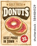 donuts colored vintage... | Shutterstock .eps vector #584484529