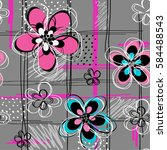 abstract seamless pattern for... | Shutterstock .eps vector #584488543