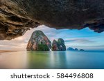 Stock photo phra nang beach and cave in krabi province thailand 584496808