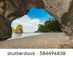 phra nang  beach and cave in... | Shutterstock . vector #584496838