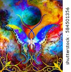 Butterfly In Cosmic Space And...
