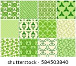 traditional green celtic style... | Shutterstock .eps vector #584503840