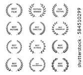 film awards. set of black and... | Shutterstock .eps vector #584510299