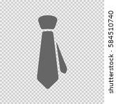 tie vector icon eps 10. necktie ... | Shutterstock .eps vector #584510740