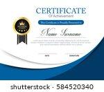 vector certificate template | Shutterstock .eps vector #584520340