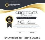 vector certificate template | Shutterstock .eps vector #584520358