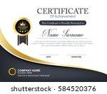 vector certificate template | Shutterstock .eps vector #584520376