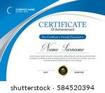 vector certificate template | Shutterstock .eps vector #584520394
