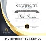 vector certificate template | Shutterstock .eps vector #584520400