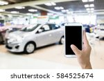 man use mobile phone  blur... | Shutterstock . vector #584525674