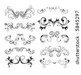 decorative design elements   Shutterstock .eps vector #5845297