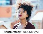 portrait of young beautiful... | Shutterstock . vector #584533993