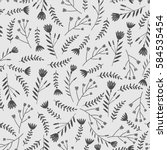 floral seamless pattern in... | Shutterstock .eps vector #584535454