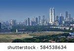aerial view of mumbai skyline...   Shutterstock . vector #584538634