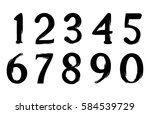set of grunge numbers.vector... | Shutterstock .eps vector #584539729