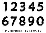 set of grunge numbers.vector... | Shutterstock .eps vector #584539750