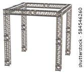 steel truss girder rooftop... | Shutterstock . vector #584546260