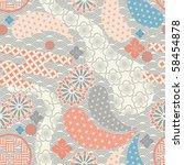 seamless japanese style pattern.... | Shutterstock .eps vector #58454878