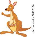 pointing cartoon kangaroo and... | Shutterstock .eps vector #58455154