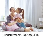 happy loving family. mother and ...   Shutterstock . vector #584553148