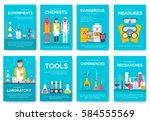 biohazard chemists brochure... | Shutterstock .eps vector #584555569