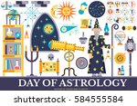 astrology house icons design... | Shutterstock .eps vector #584555584