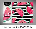 gift certificate  voucher ... | Shutterstock .eps vector #584556514