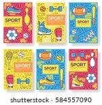 premium quality sport vector... | Shutterstock .eps vector #584557090