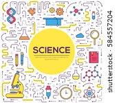 thin line scientific modern...   Shutterstock .eps vector #584557204
