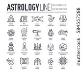 astrology house thin line icons ... | Shutterstock .eps vector #584557288