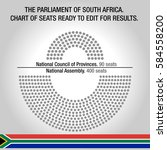the parliament of south africa. ... | Shutterstock .eps vector #584558200
