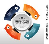vector illustration of arrow... | Shutterstock .eps vector #584576608