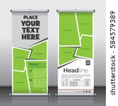 roll up brochure flyer banner... | Shutterstock .eps vector #584579389