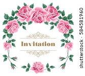 bridal shower  wedding...   Shutterstock . vector #584581960