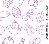 doodle of easter egg vector flat