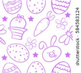 doodle of easter egg style