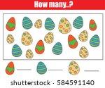 counting educational children... | Shutterstock . vector #584591140