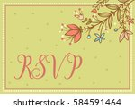 greeting card. wedding vector...   Shutterstock .eps vector #584591464