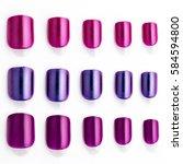 set of multi colored false... | Shutterstock . vector #584594800