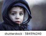 crying sad children | Shutterstock . vector #584596240