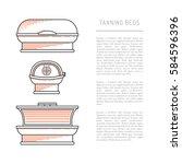 equipment for tanning studios... | Shutterstock .eps vector #584596396