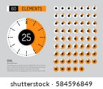 set vector image of... | Shutterstock .eps vector #584596849