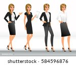 elegant business women in...