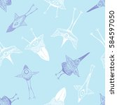 vector seamless pattern with... | Shutterstock .eps vector #584597050