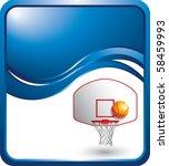 basketball goal blue wave... | Shutterstock .eps vector #58459993