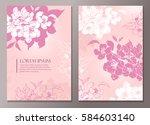 elegant floral background for... | Shutterstock .eps vector #584603140