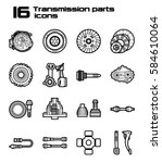 set of sixteen transmission... | Shutterstock .eps vector #584610064