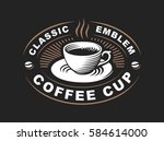 coffee cup logo   vector... | Shutterstock .eps vector #584614000