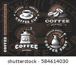 coffee logo   vector... | Shutterstock .eps vector #584614030