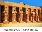 karnak temple  hall of...   Shutterstock . vector #584618356